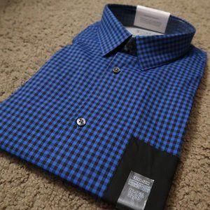 Calvin Klein black/blue dress shirt LARGE